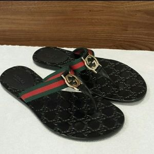 Gucci GG Logo Sandals size 37.5